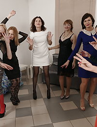 This naughty bunch of women have aspecial party night planned