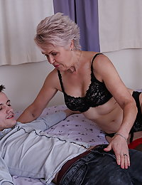 Naughty mature beeglady fooling around with her toy boy