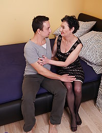 Naughty mature beeglady having fun with her younger lover