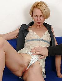 Naughty housewife getting fondled while sleeping