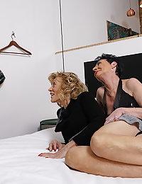 Three naughty mature beegladies go full lesbian