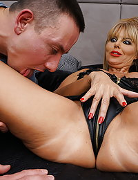 Naughty British MILF playing with her younger lover